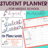 Middle School Student Planners