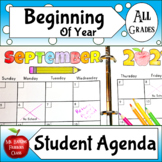 Student Planner in Monthly and Weekly Versions Printable