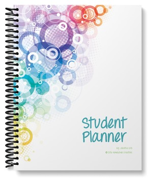 Student Planner - undated (abstract circle design)
