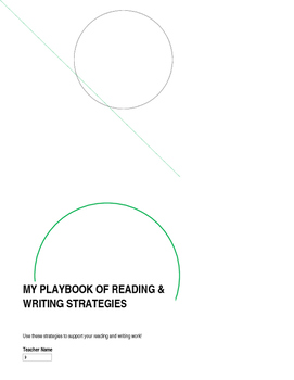 """Student """"Playbook"""" of Reading and Writing Strategies"""