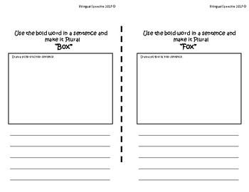 Student Plural Nouns Book