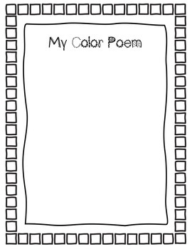Student Poetry Booklet CCSS 3.RL.5, 3.W.4, and 3.W.10