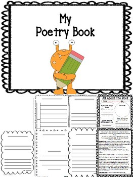 Student Poetry Journal Book Printable