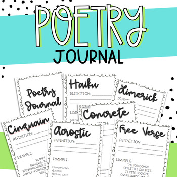 Student Poetry Journal - Types of Poetry