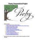Student Poetry Presentation Unit Materials & Grading Rubrics