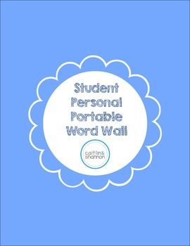 Student Portable Personal Word Wall