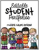 Student Portfolio Cover *Editable*