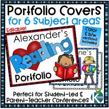 Portfolio Covers for Student-led Conferences & Parent Teacher Conferences