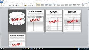 Student Portfolio - Data - Editable