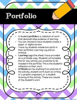 Student Portfolio Learning Logs