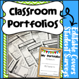 Student Portfolio Materials with EDITABLE Cover Pages