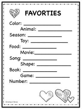 Preschool/Kindergarten Student Portfolio--Memory Book