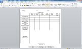 Student Portfolio RTI Form