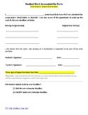 Student Portfolio Work Accountability Form