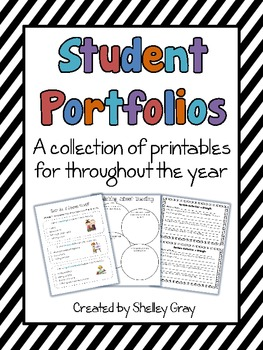 Student Portfolios: a collection of printables for throughout the year