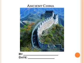 Student PowerPoint Report Template for Ancient China