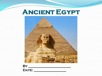 Student PowerPoint Report Template for Ancient Egypt