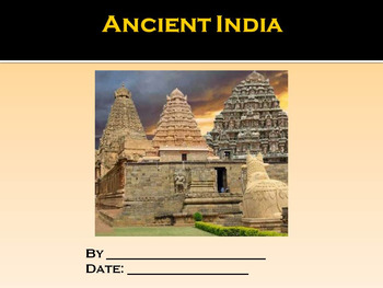 Student PowerPoint Report Template for Ancient India