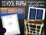 Student Pre-School-12th Grade Paper Organization System