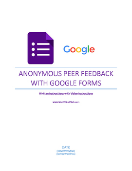 Student Presentation Anonymous Feedback Form