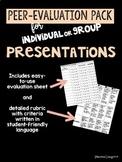 Student Presentation Peer Evaluation & Rubric