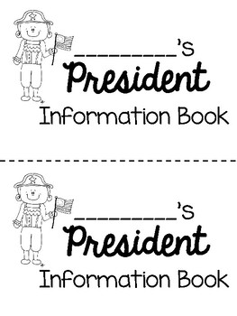 President's Day - Student President Flipbook and Activity Pages