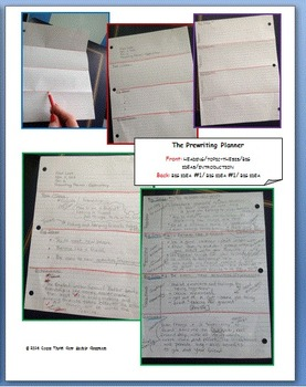 Student Prewriting Planner for Informative and Explanatory