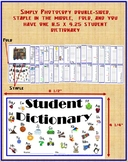Student Printable Spelling and Writing Dictionary