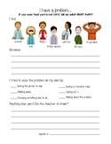 "Student Problem Reporting Sheet - ""Tattle Sheet"""