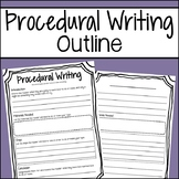 Student Procedural Writing Outline