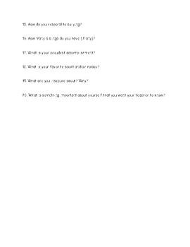 Student Profile Questionnaire