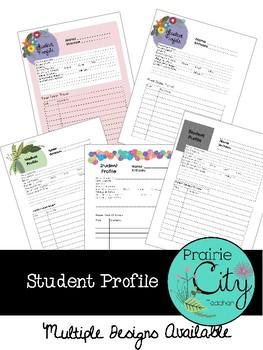 Student Profile Template