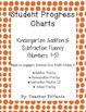 FREEBIE Student Progress Charts: Kindergarten Addition and Subtraction Fluency