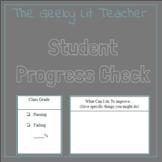 Student Progress Check