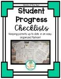 Student Progress Checklists