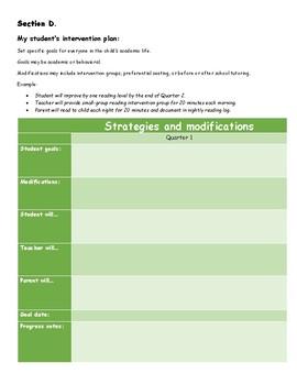 Student Progress Log and Intervention Plan