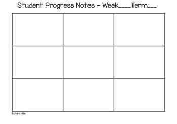 Student Progress Notes