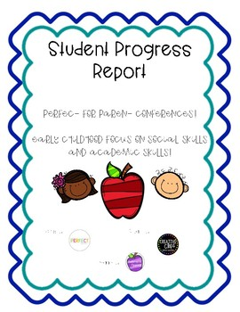 Student Progress Report - Early Childhood