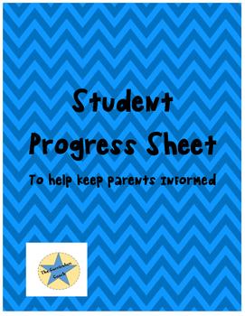Student Progress Sheet