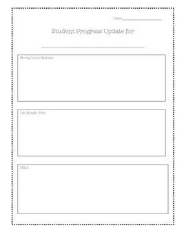 Student Progress Update
