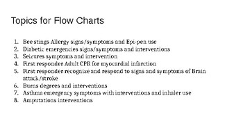 Student Project: Emergency Care Flow chart
