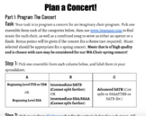 Student Project: Program A Concert! | Choir Sub Plan or In Class Project