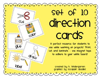 Student Project Direction Cards Freebie
