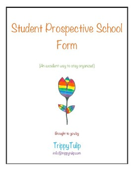 Student Prospective School Form