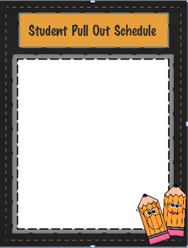 Student Pull Out Schedule
