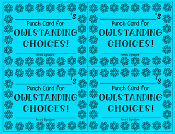 Student Punch Cards