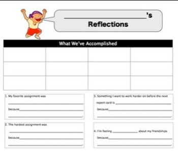 Student Quarterly Reflection Sheets