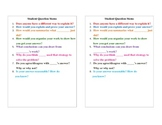 Student Question Stem Cards Grades 3-6