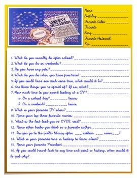 Student Questionnaire - History