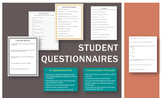 Student Questionnaires (Surveys, Conversation Starters, & Goal Setting)